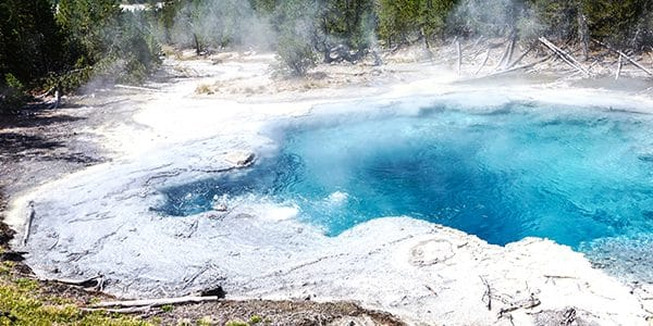 Views from the Norris Geyser Hike in Yellowstone National Park