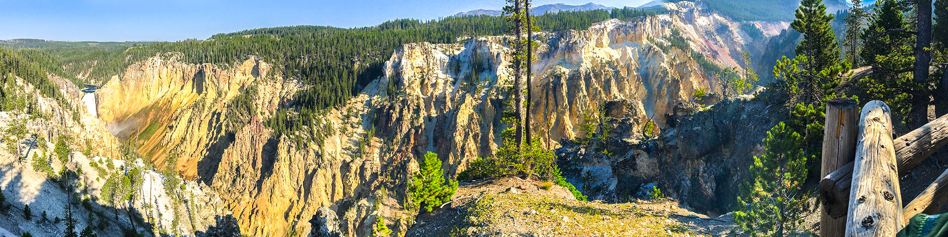 Scenery from the South Rim Hike in Yellowstone National Park