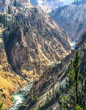 Trail of the South Rim Hike in Yellowstone National Park