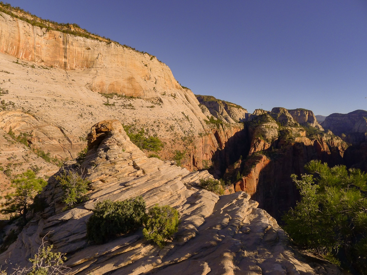 View from the top of Angel's Landing hike in Zion National Park, Utah