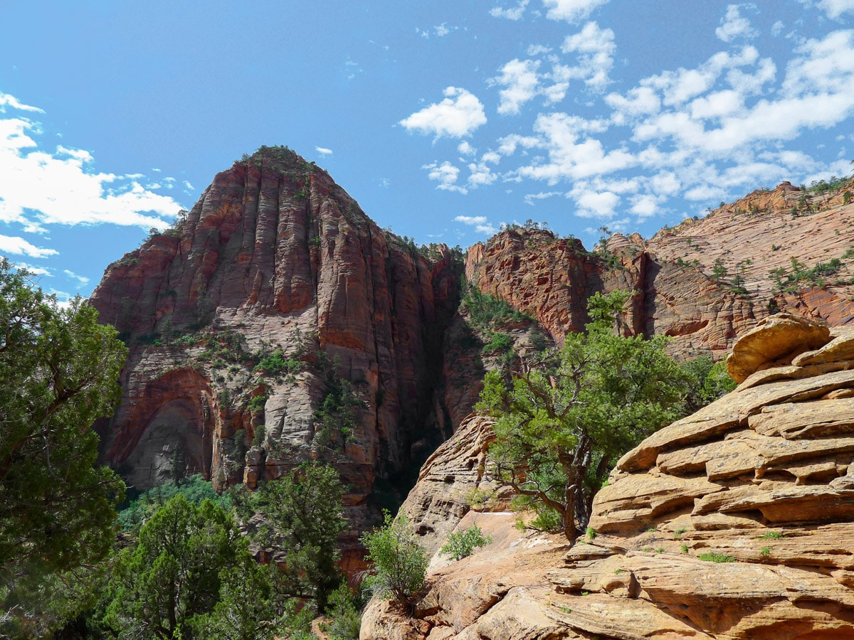 View of the canyon from Canyon Overlook hike in Zion National Park, Utah