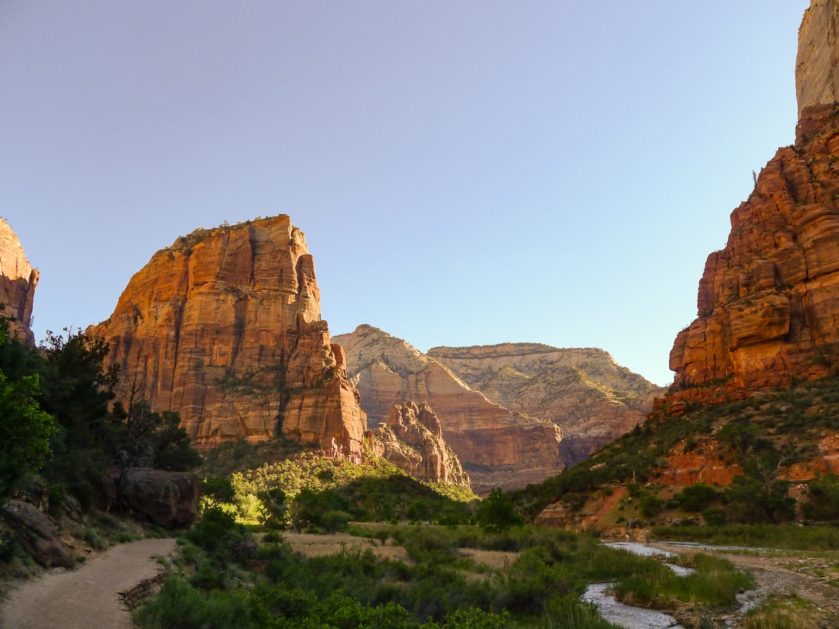 Early morning views on Emerald Pools hike in Zion National Park