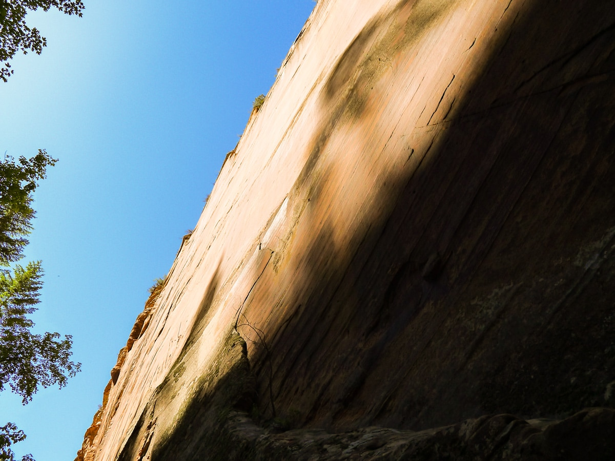 Sandstone cliffs on Hidden Canyon hike in Zion National Park