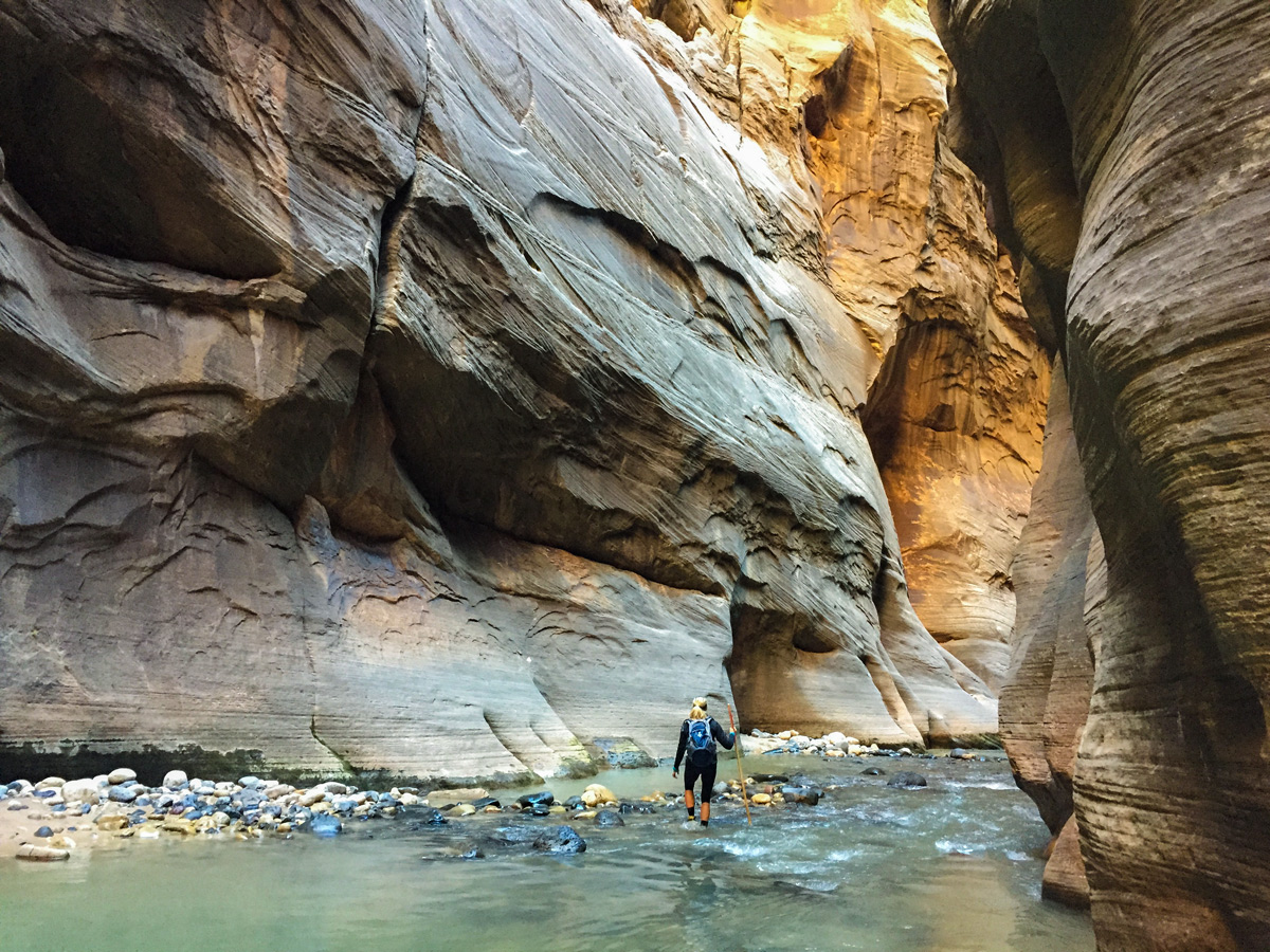 Great view of the Narrows hike in Zion National Park