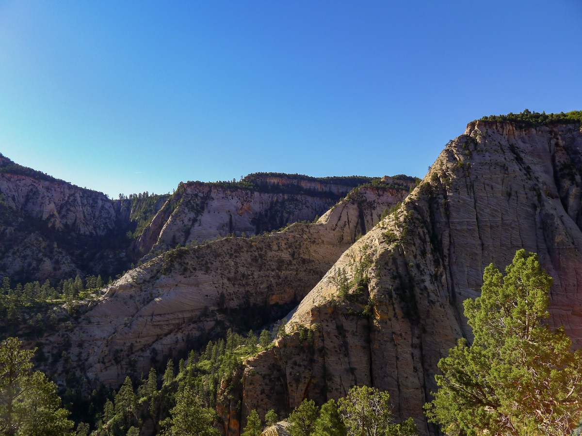 Observation Point hike in Zion National Park has views of stunning ridgelines