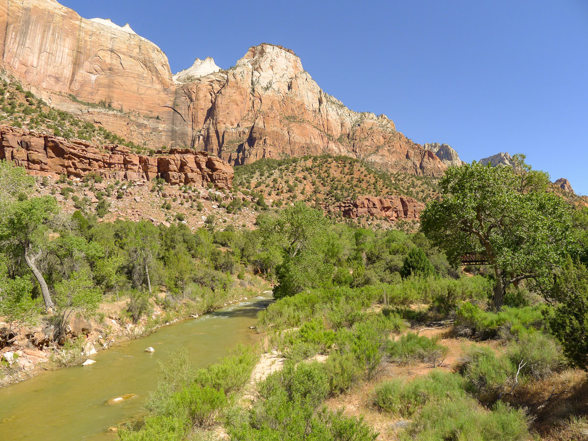 River along Pa'rus River Trail hike in Zion National Park