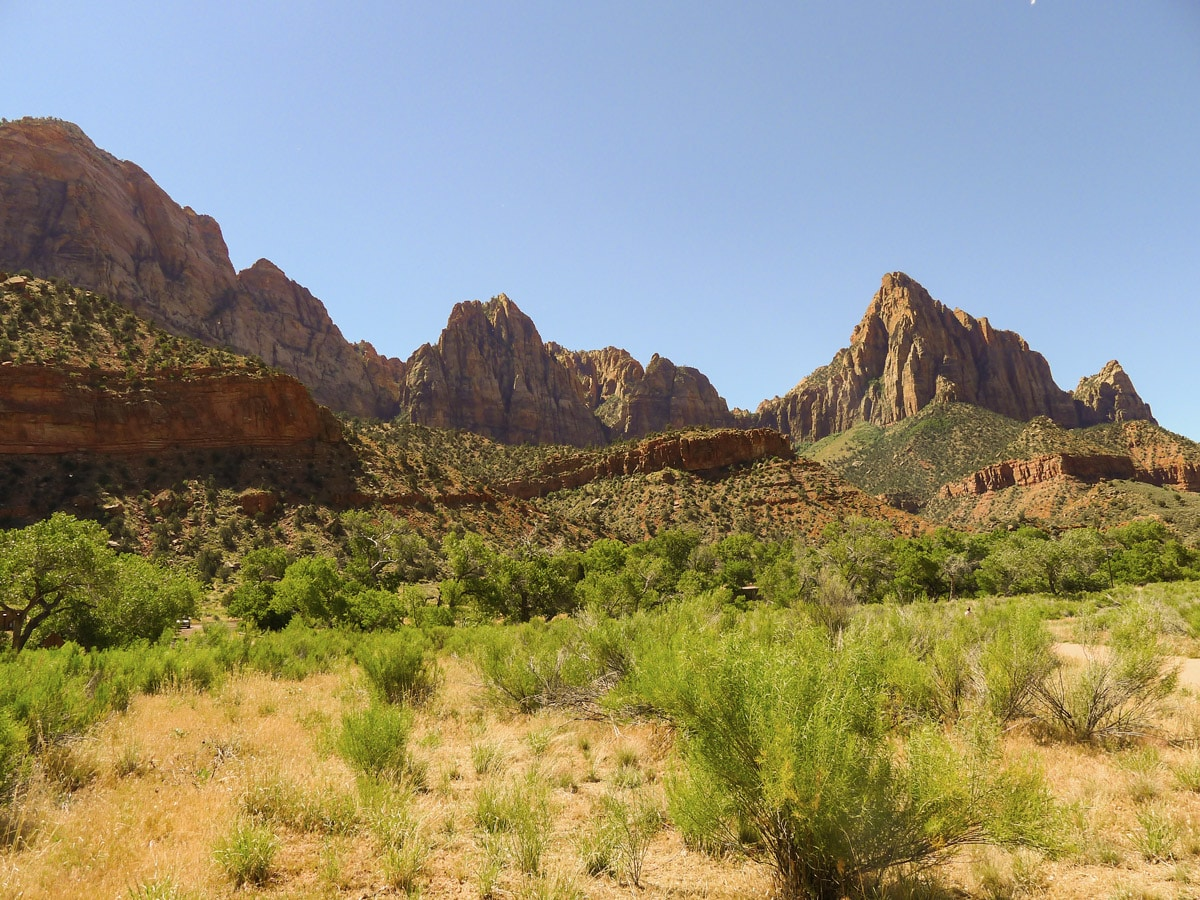 Pa'rus River Trail hike in Zion National Park has amazing views