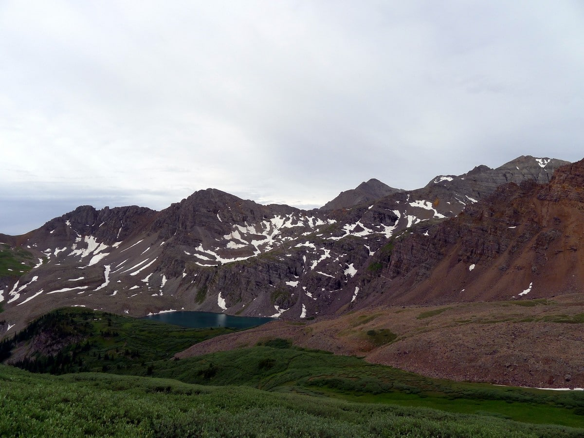 Another view down to the mountains surrounding Crater Lake