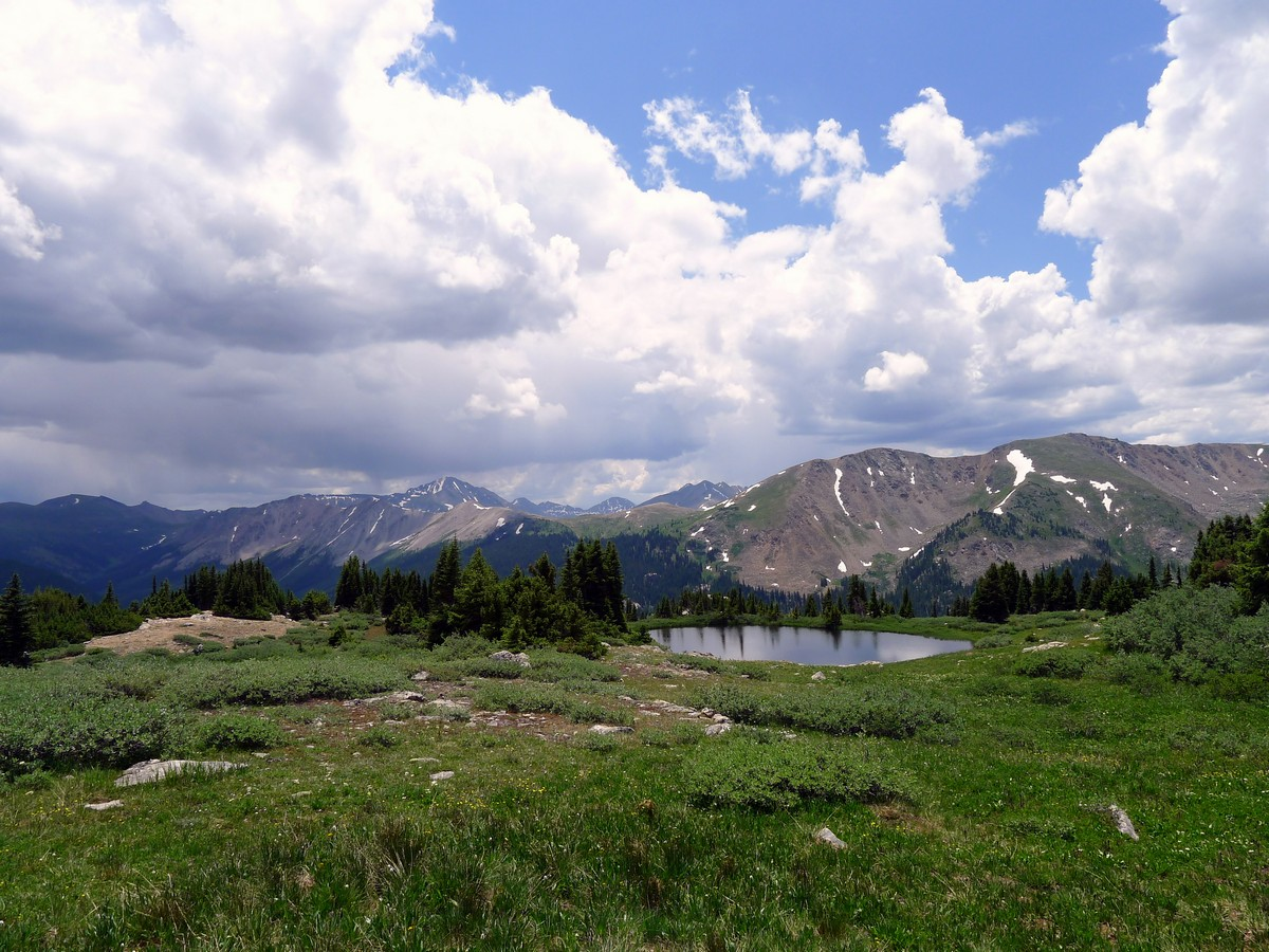 Looking back on the Midway Pass Hike near Aspen, Colorado