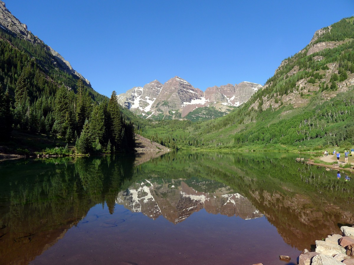 Classic view from Maroon Lake