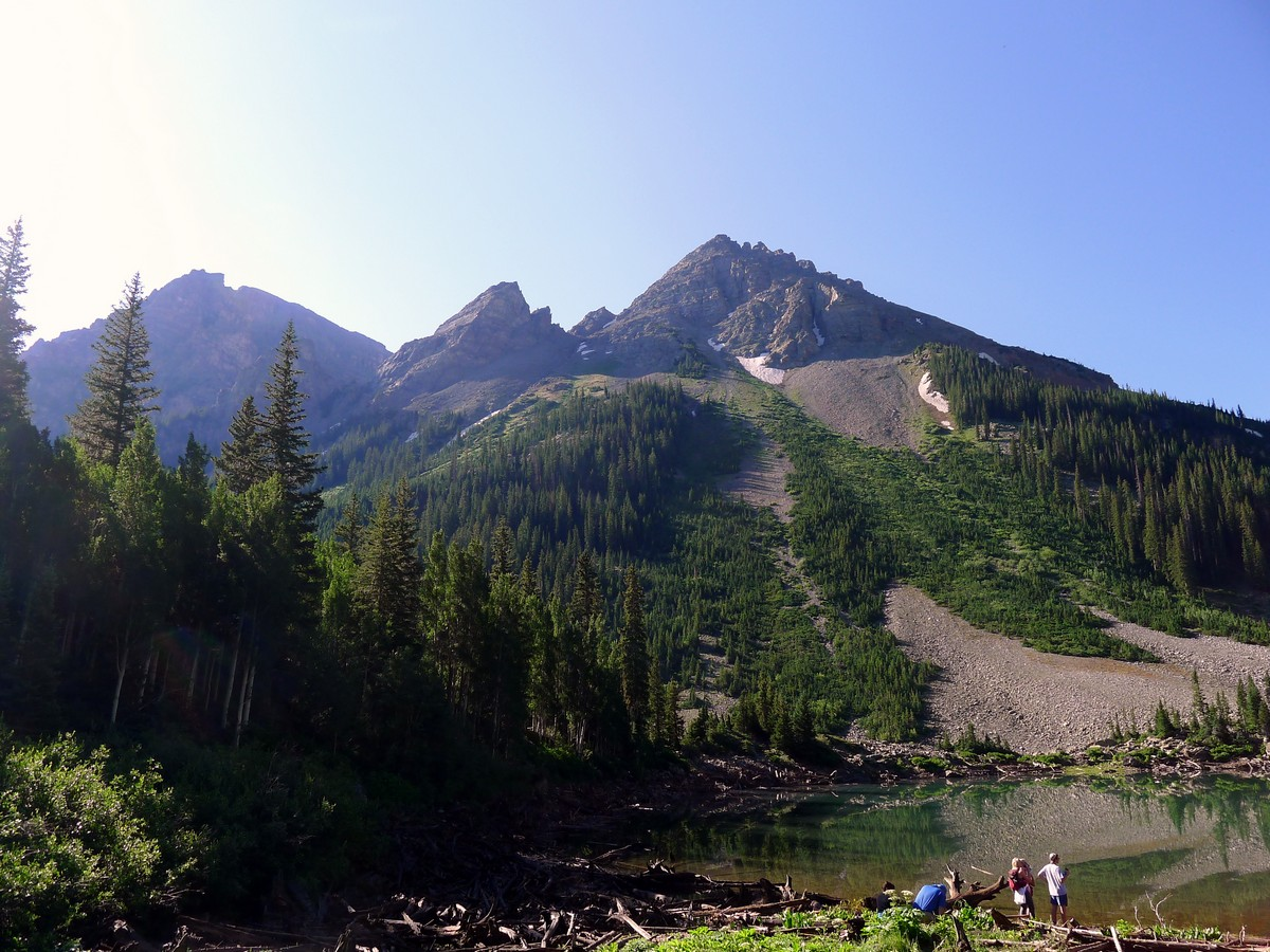 Pyramid Peak trail in Aspen, Colorado has some of the great views