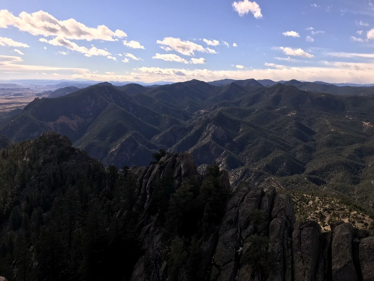 View from the Boulder Peak summit on the hike from Boulder