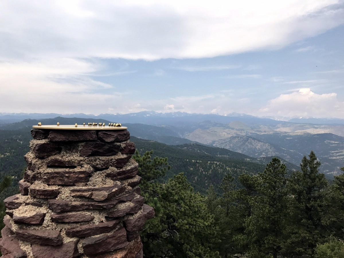 Beautiful Landscape from Green Mountain trail in Boulder