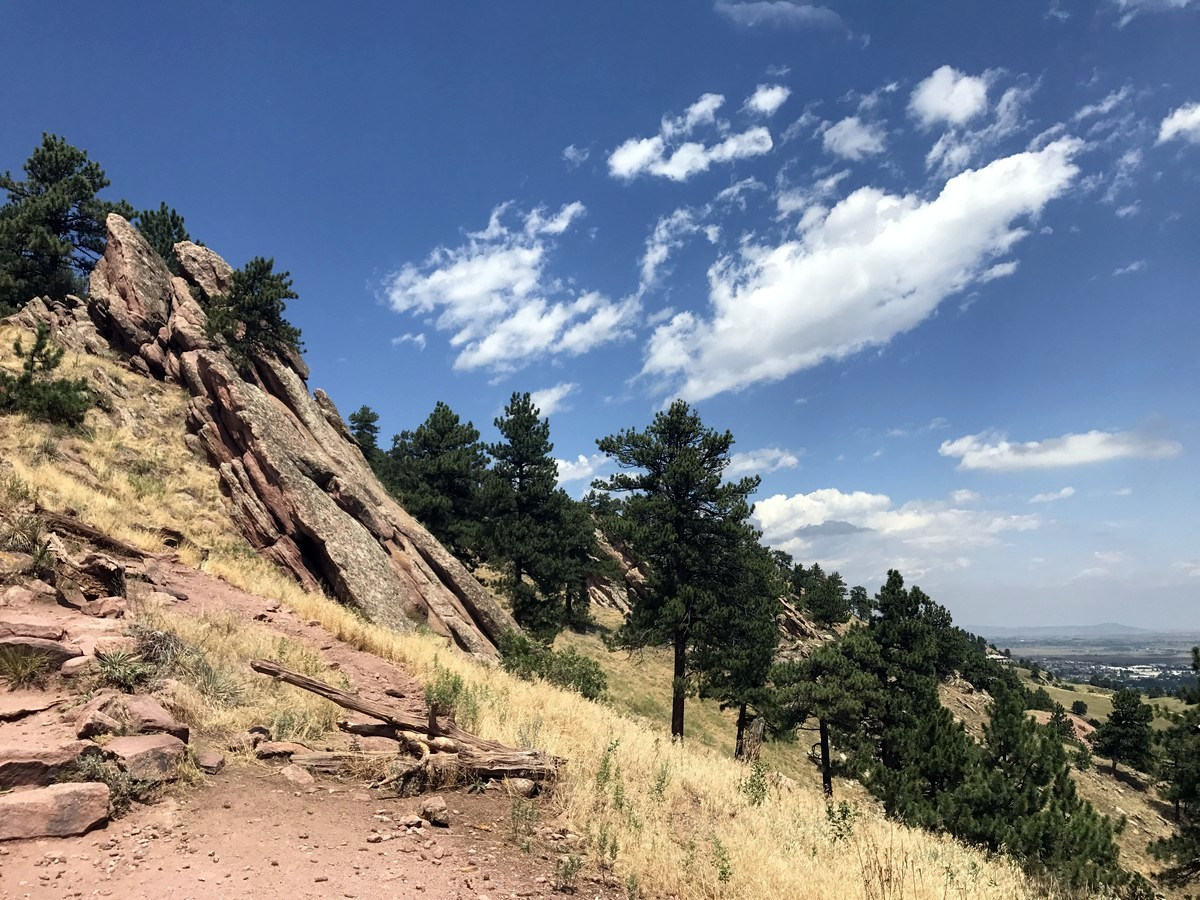 Mount Sanitas trail in Boulder offers some of the best views in Colorado