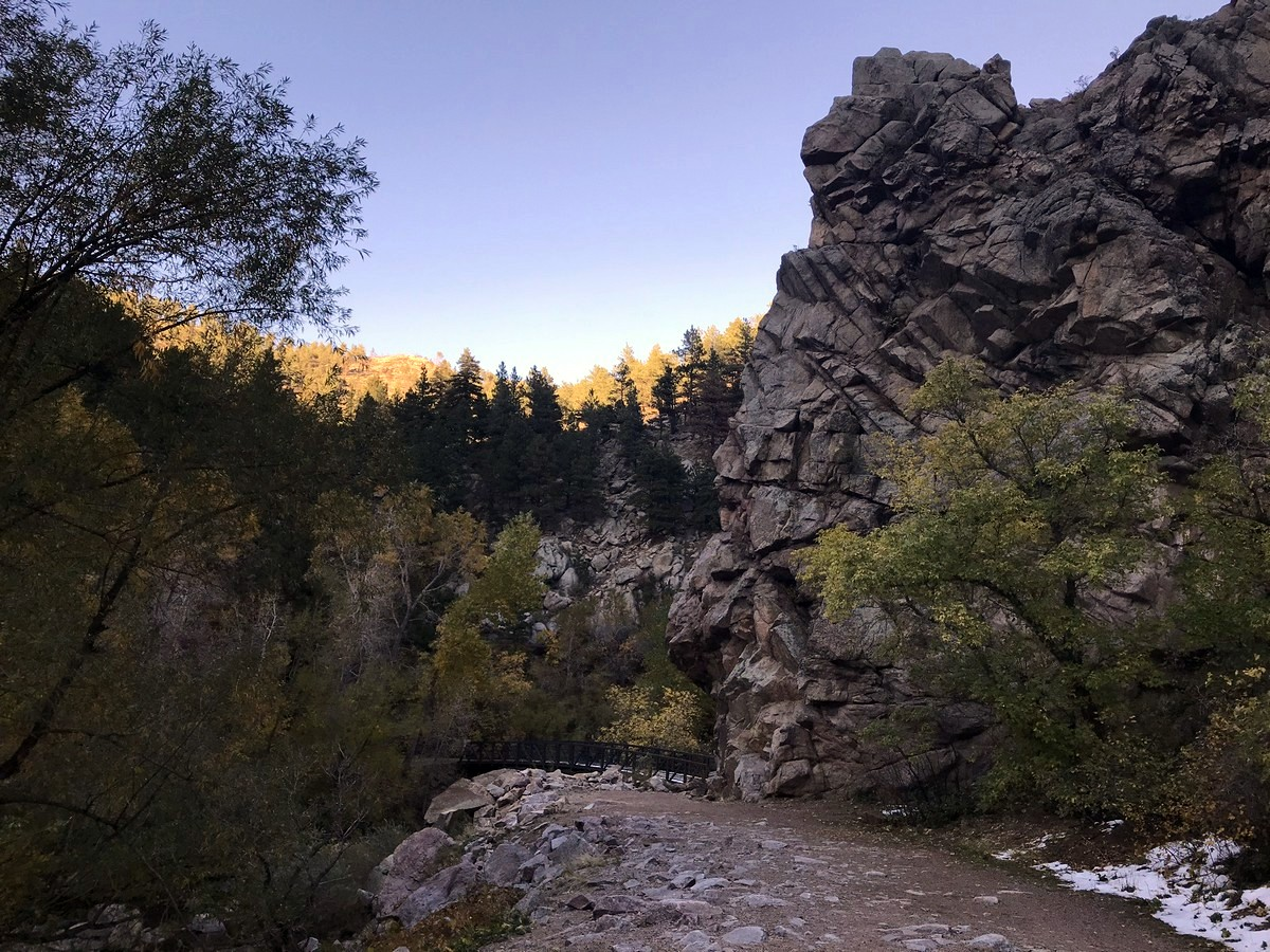 Boulder Creek Canyon trail is a beautiful hike in Colorado