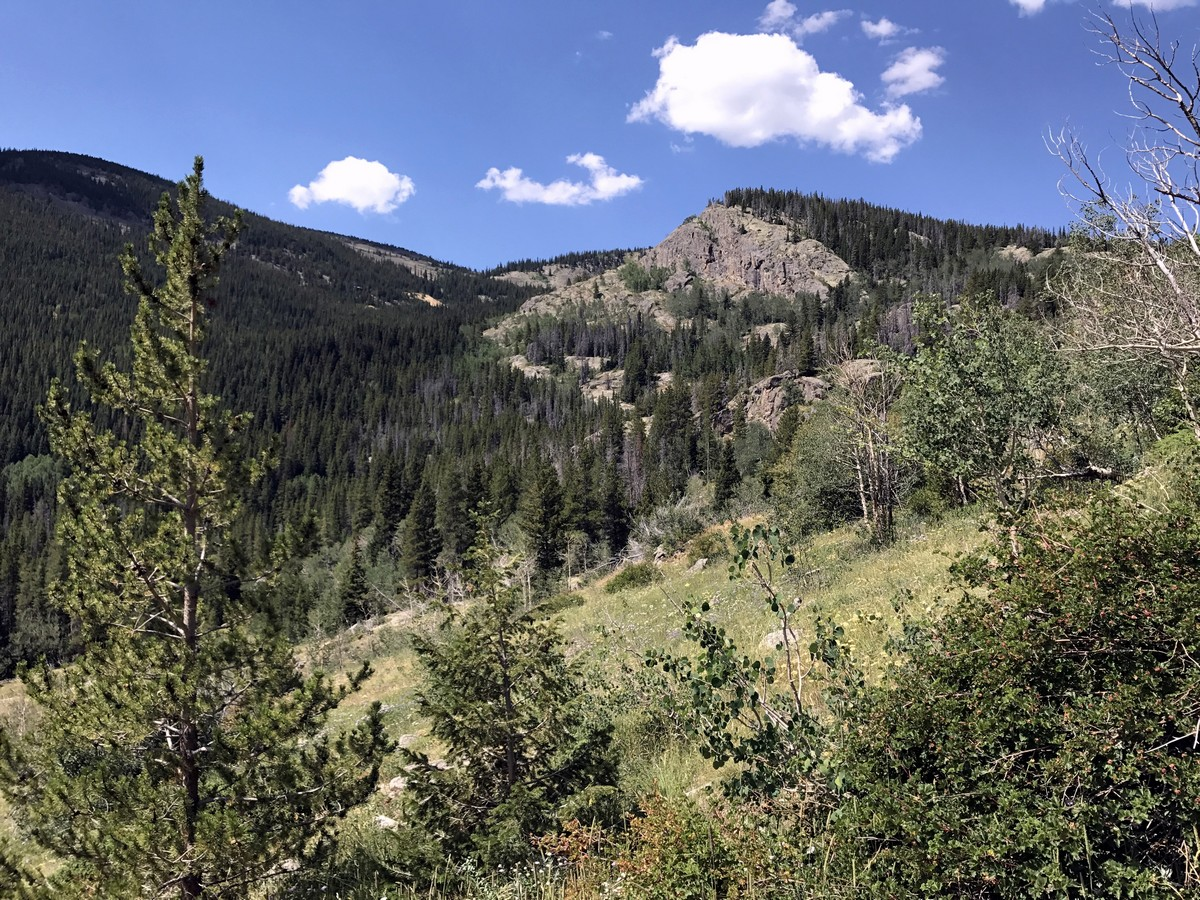 Mountain view from the Lost Lake Hike in Indian Peaks, Colorado
