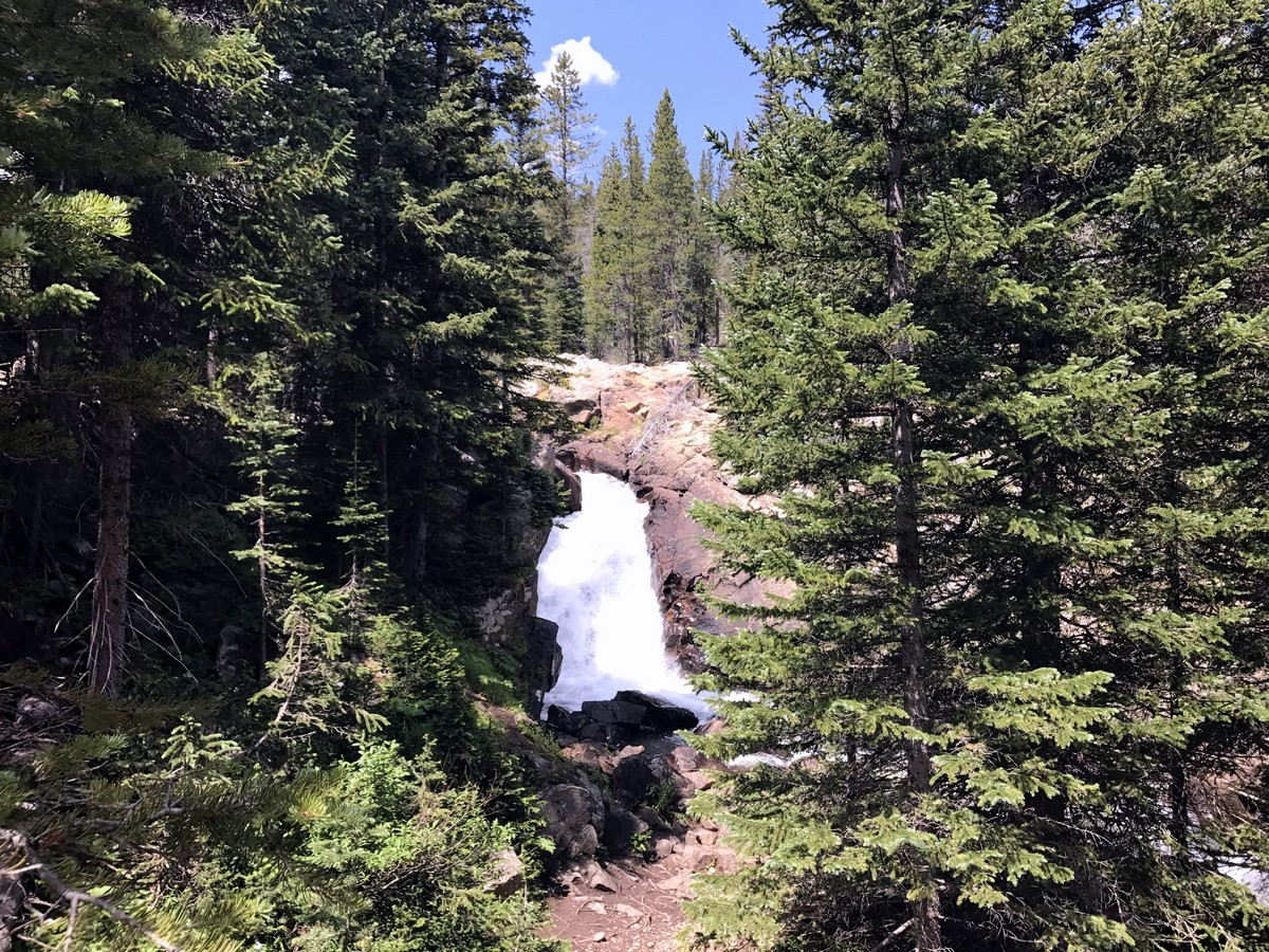 Waterfall on Lost Lake hike in Indian Peaks