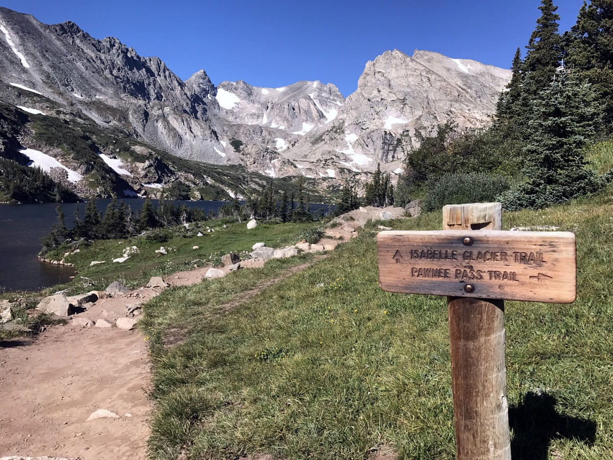Junction on Pawnee Pass in Indian Peaks