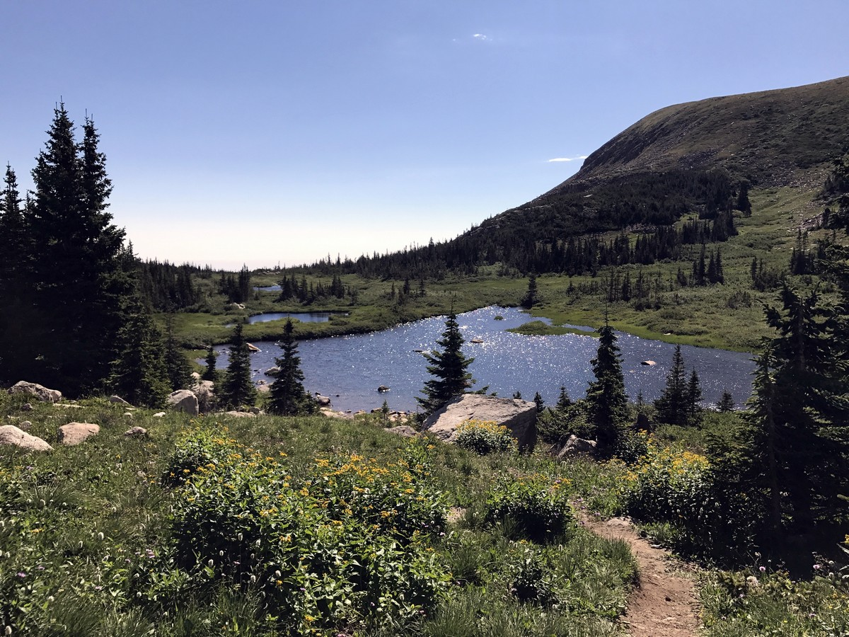 Views of the Blue Lake Trail Hike in Indian Peaks