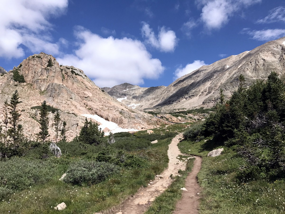 Great views from the Blue Lake Trail Hike in Indian Peaks