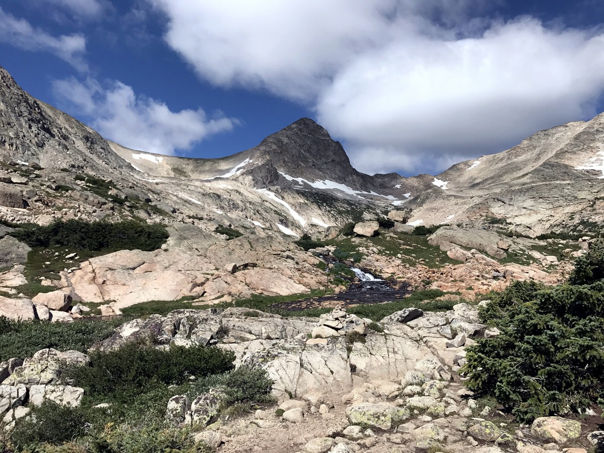 Mt Toll from the Blue Lake Trail Hike in Indian Peaks