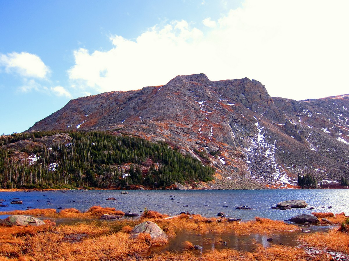 Panorama of the Diamond Lake Trail Hike in Indian Peaks, Colorado