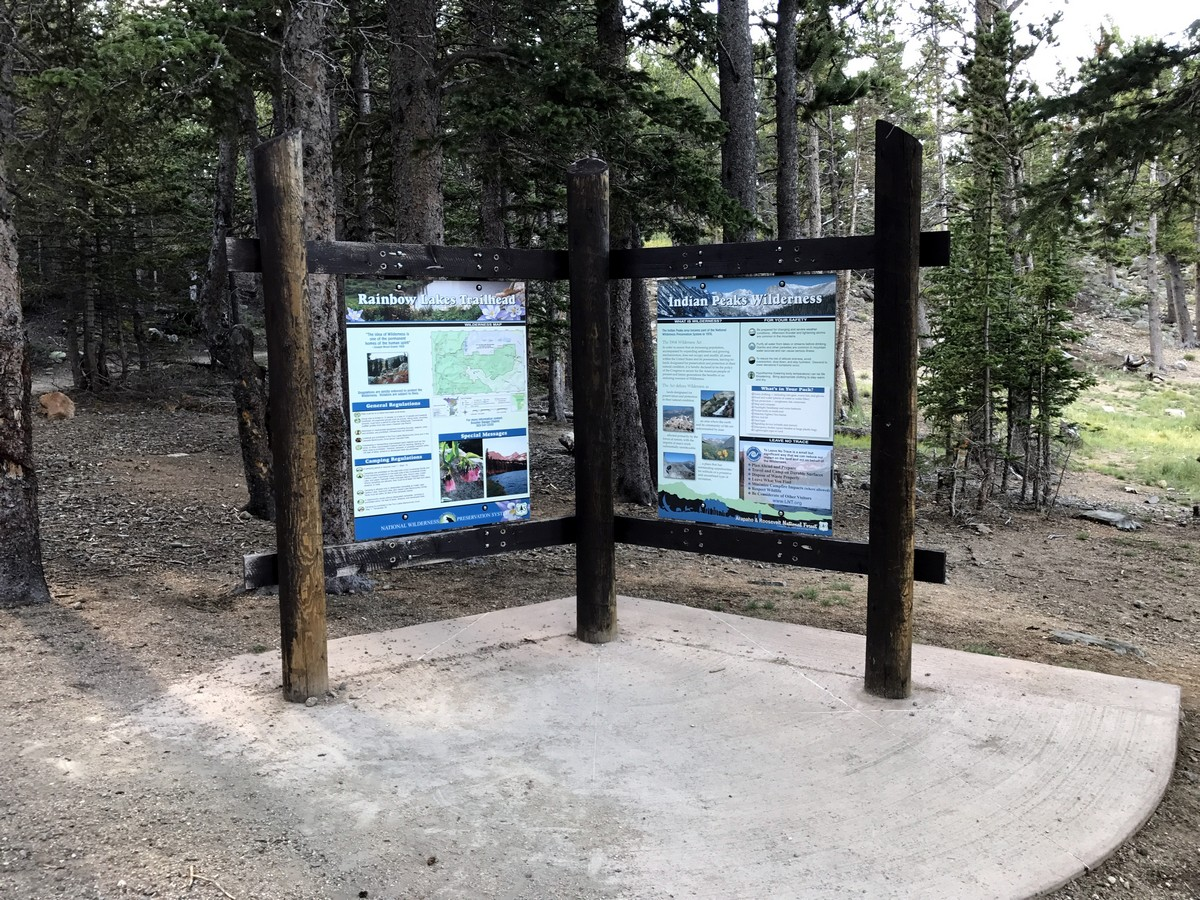 Map on the Rainbow Lake Trail Hike in Indian Peaks, Colorado