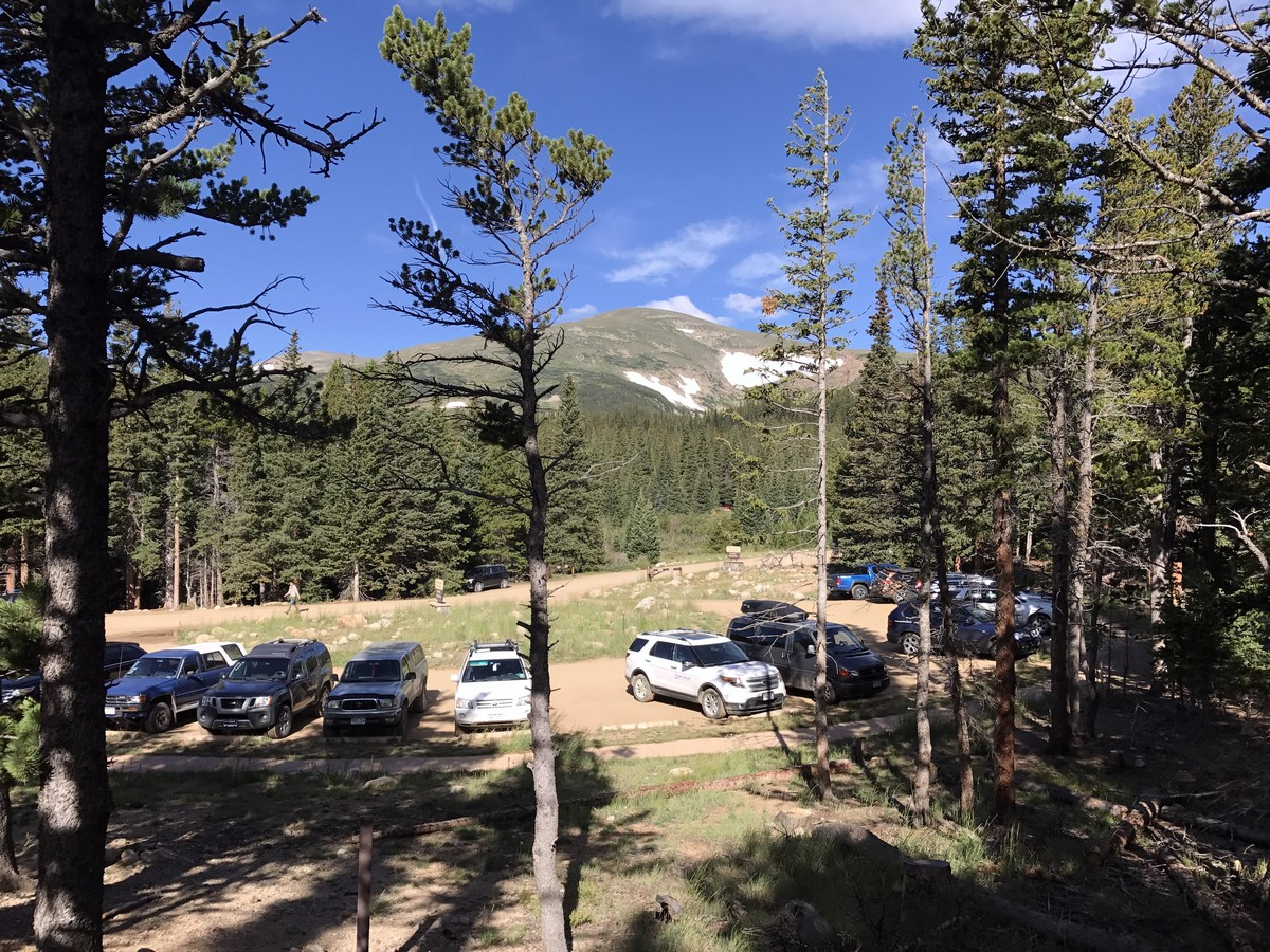 Parking of the Rainbow Lake Trail Hike in Indian Peaks, Colorado