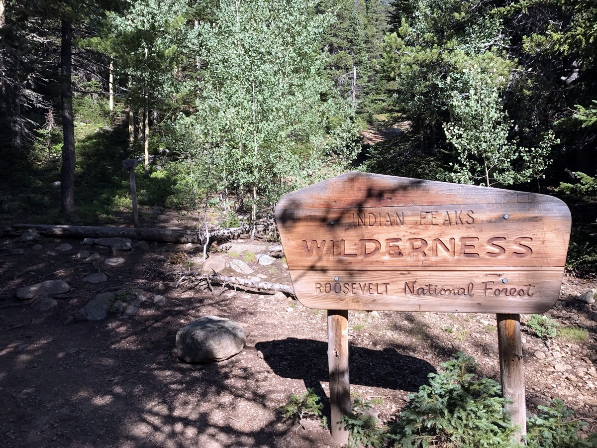 Sign on the Rainbow Lake Trail Hike in Indian Peaks, Colorado