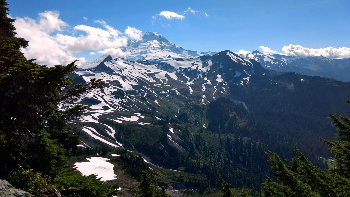 Mount Baker at end of trail