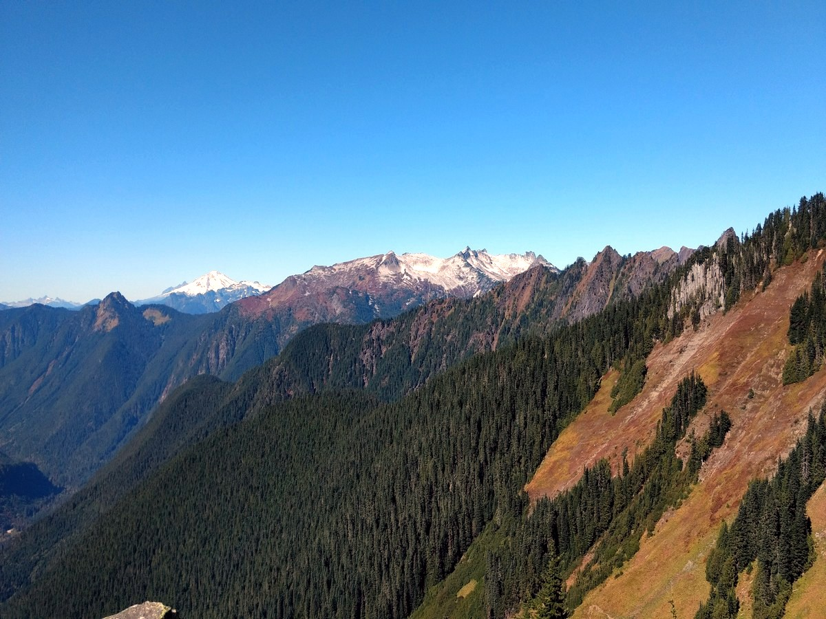 Mountain Baker view from the trail to the Hidden Lake, North Cascades, Washington