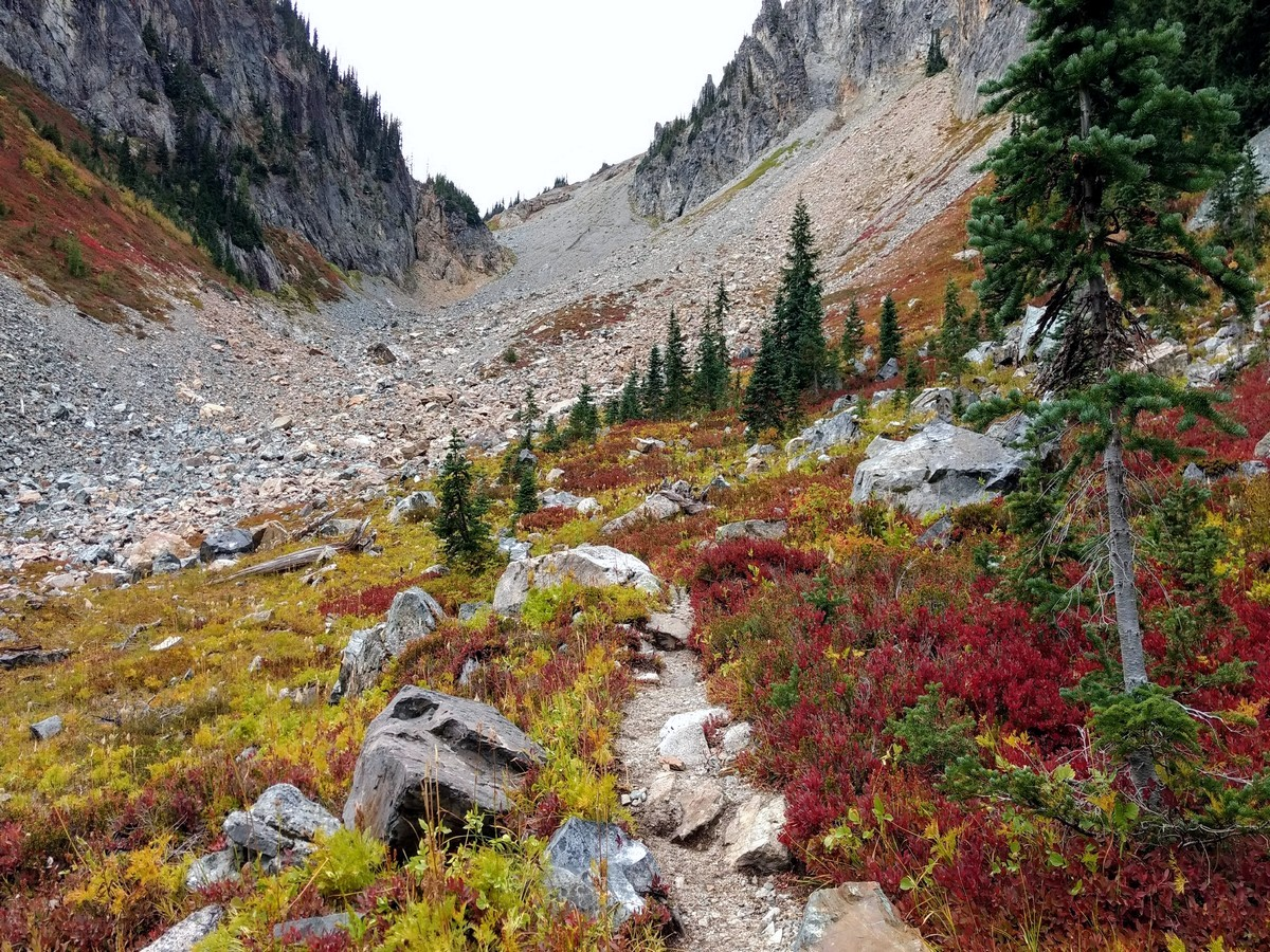 Autumn on the Easy Pass Hike in North Cascades, Washington