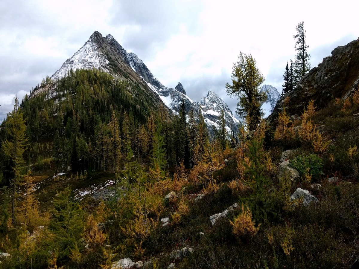 Greybeard Peak views while hiking the Easy Pass trail in North Cascades, Washington