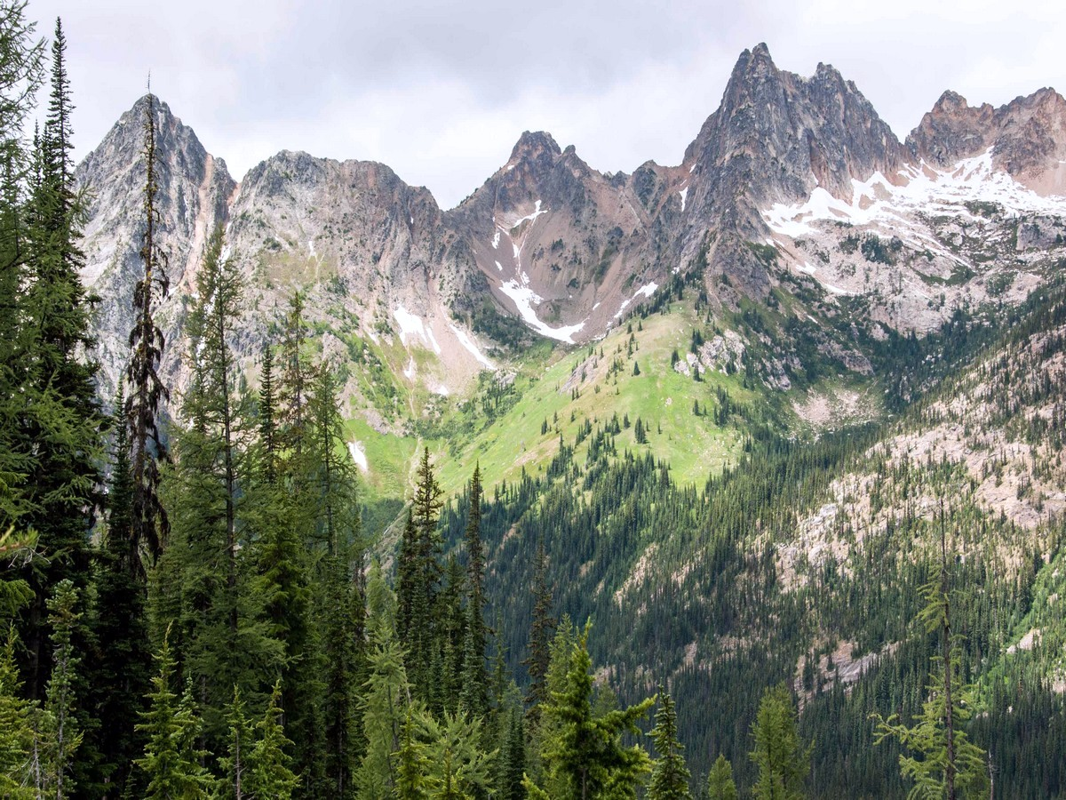 Whistler Mountain and Cutthroat Peak from the Blue Lake Hike in North Cascades, Washington