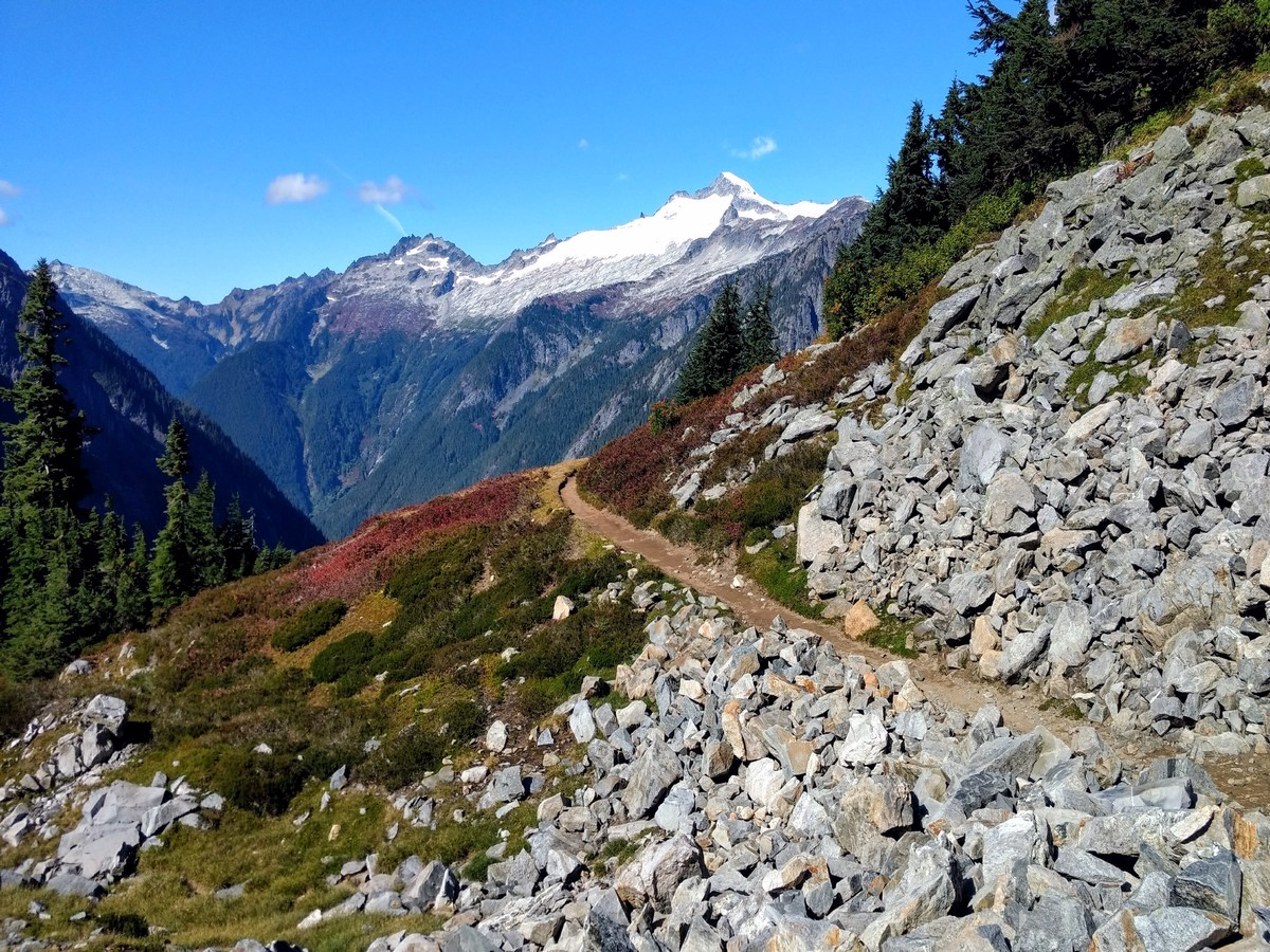 Eldorado Peak as seen from Cascade Pass trail in North Cascades