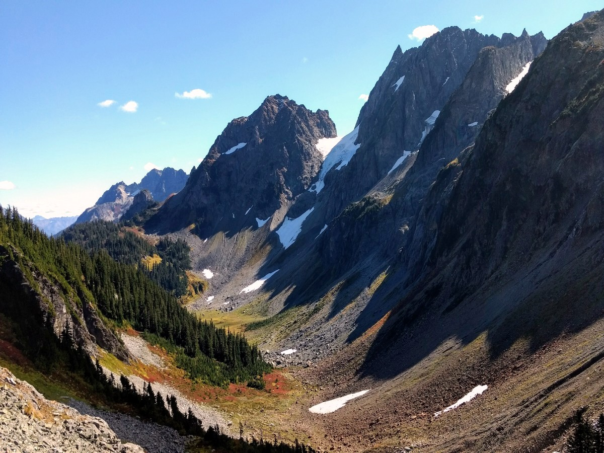 Pelton Peak and Magic Mountain from the Cascade Pass Hike in North Cascades, Washington