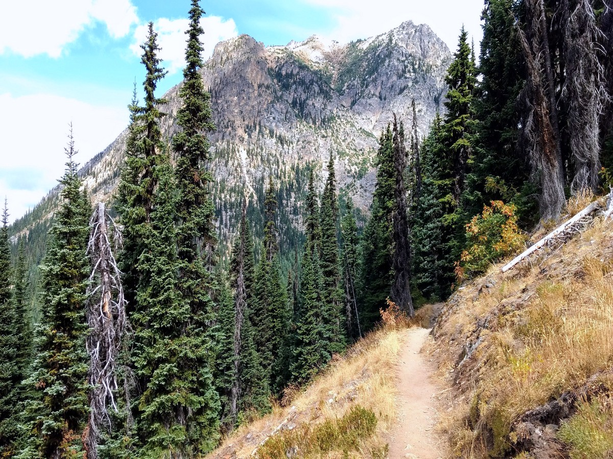 Shoulder beneath Porcupine Peak on the Cutthroat Pass Hike in North Cascades National Park, Washington