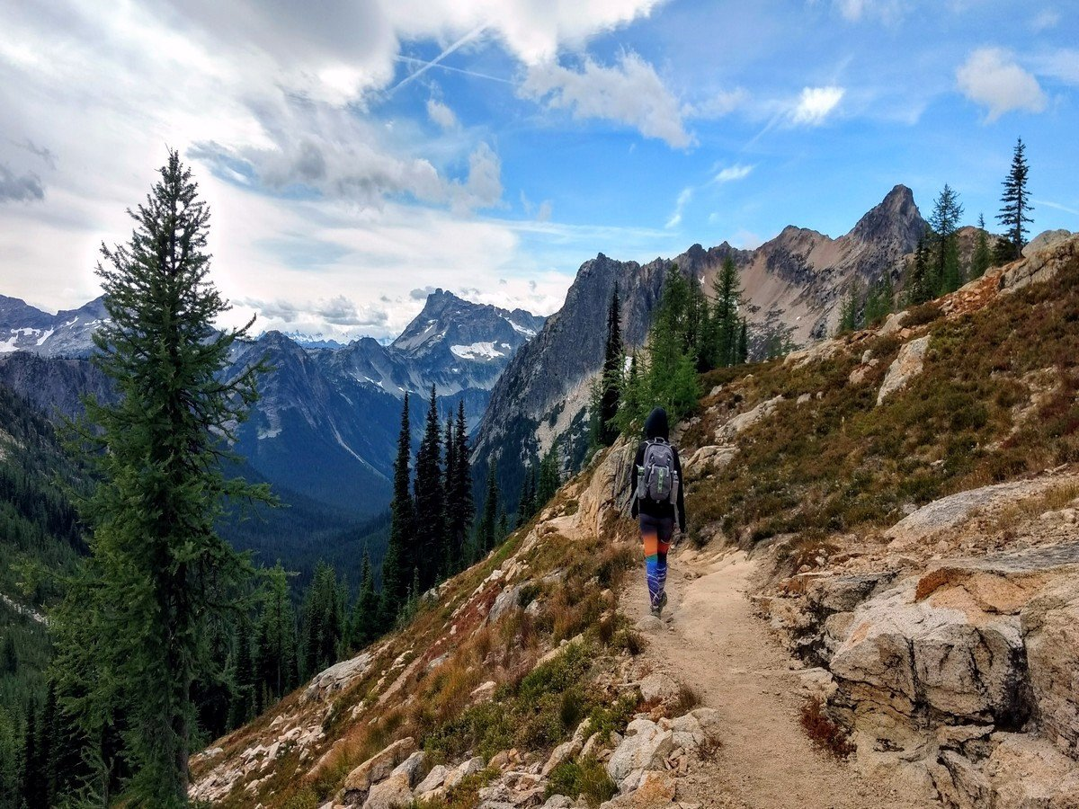 PCT part of the Cutthroat Pass Hike in North Cascades National Park, Washington