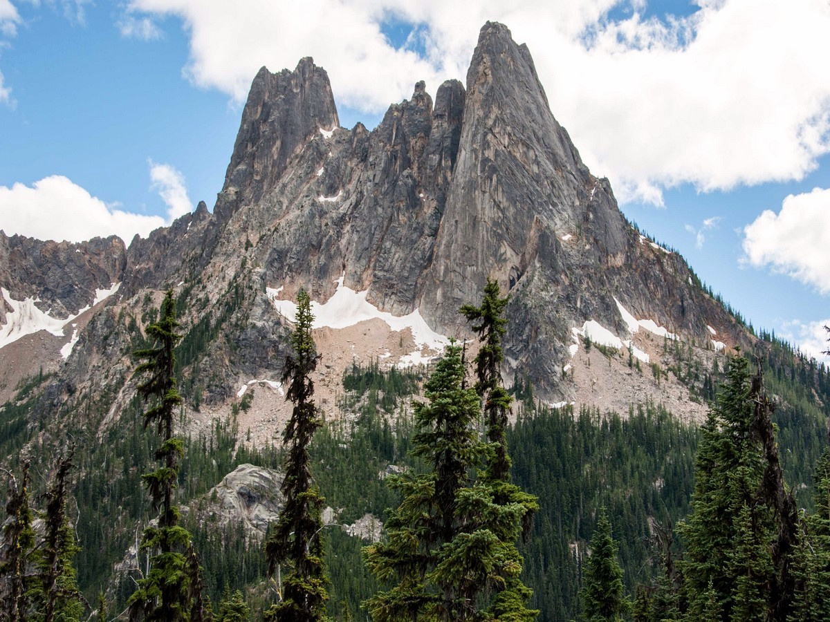 Liberty Bell and Early Winters Spires from the Washington Pass Overlook Hike in North Cascades National Park, Washington