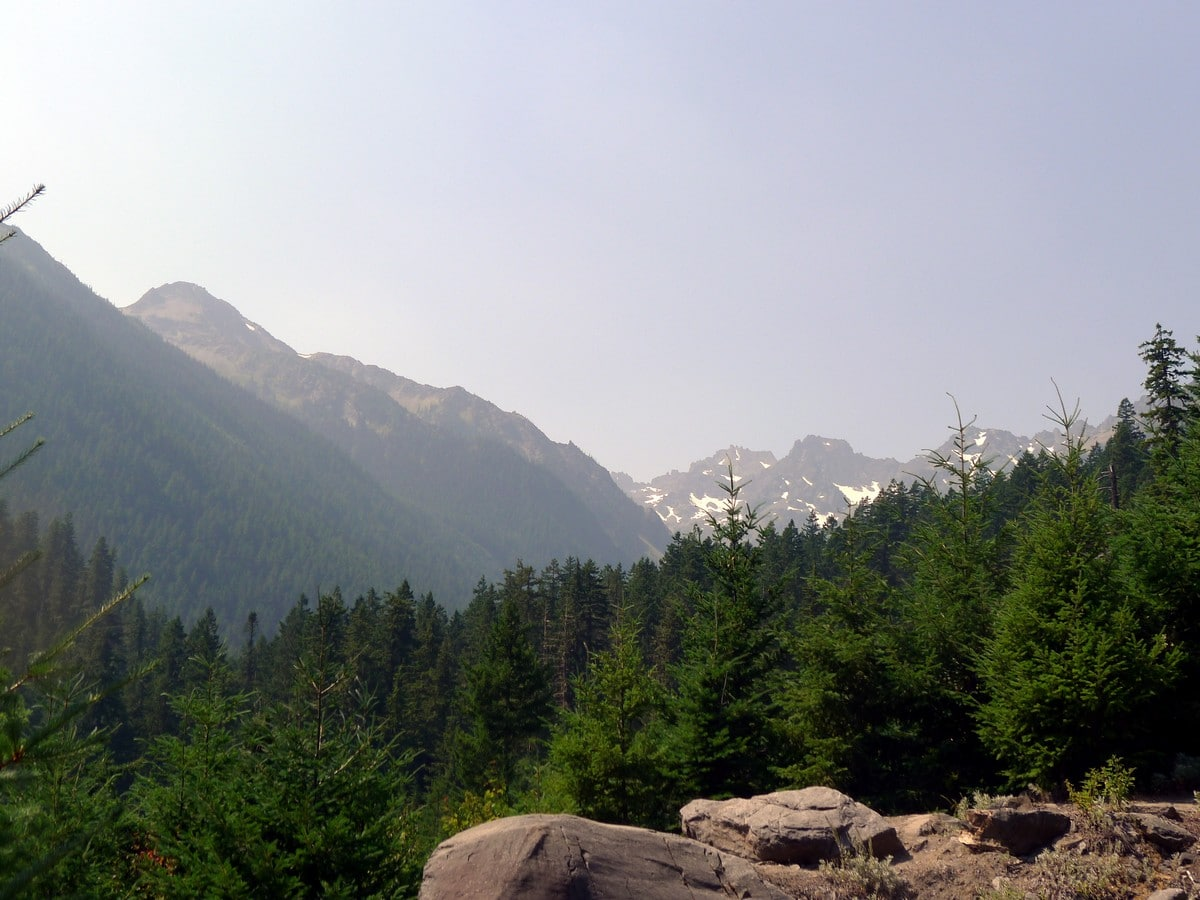 Mountain views on the Royal Basin hike in Olympic National Park