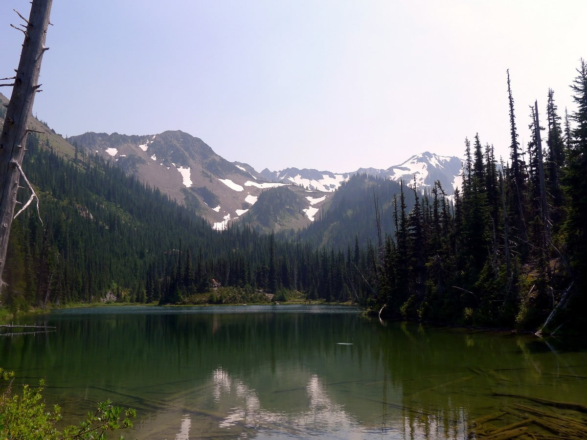 View of the Royal Lake on the Royal Basin hike in Olympic National Park
