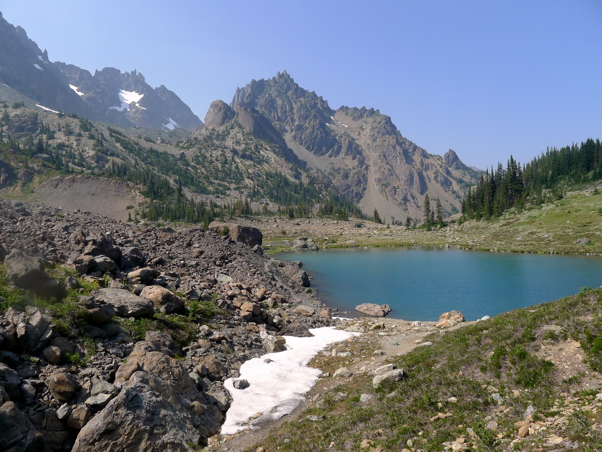 Tarn on the Royal Basin hike in Olympic National Park