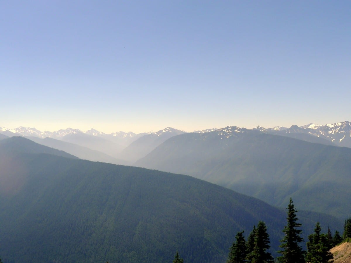 View from the Hurricane Ridge on the Klahhane Ridge Hike in Olympic National Park