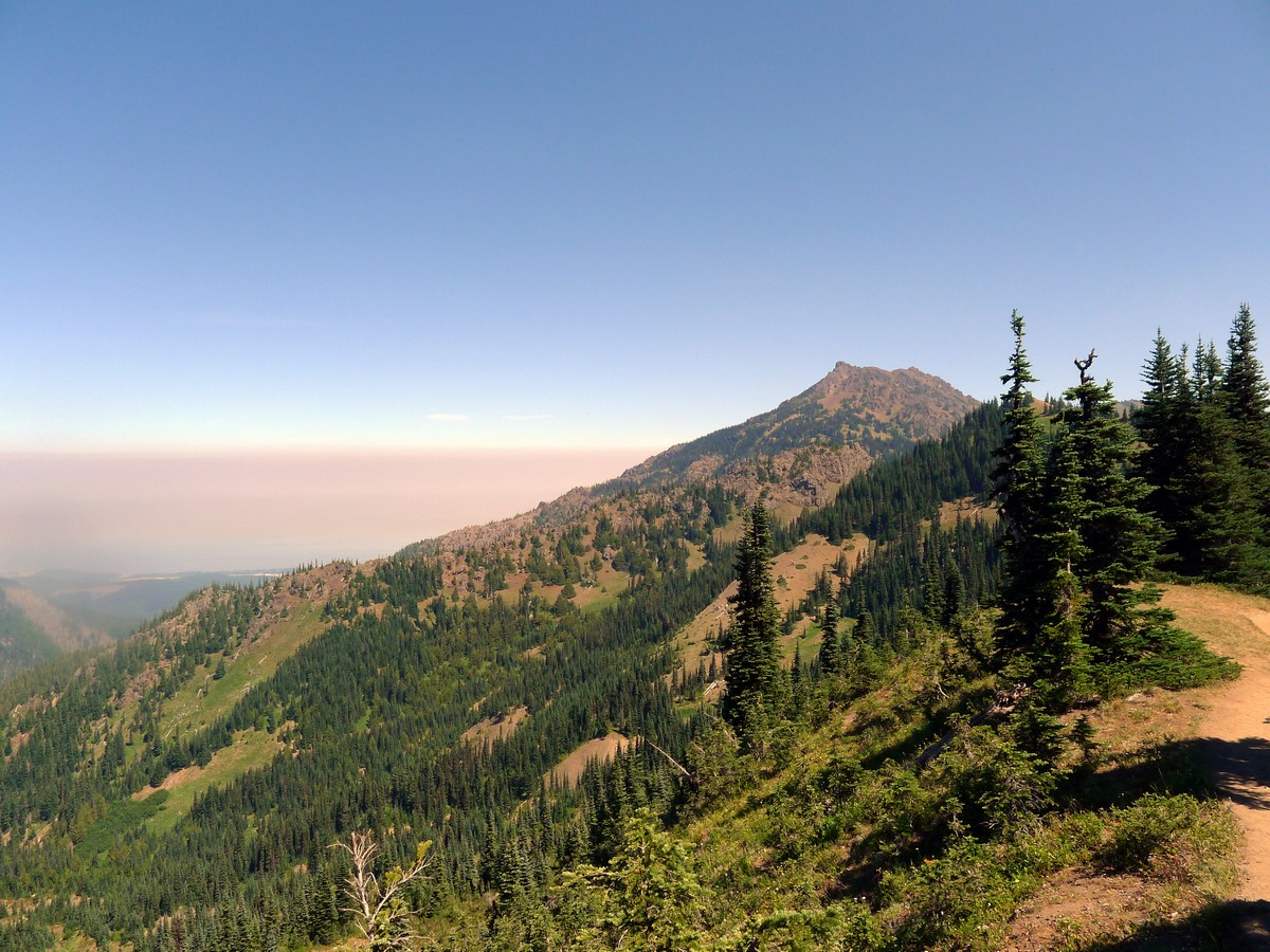 Mt Angeles from the Klahhane Ridge Hike in Olympic National Park