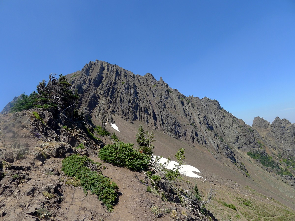 View of the Nt Angeles from the Klahhane Ridge Hike in Olympic National Park
