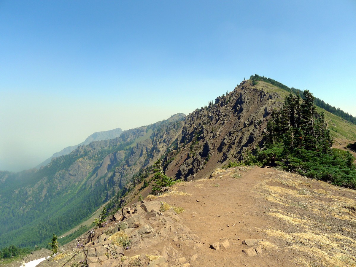 Rugged pass on the Klahhane Ridge Hike in Olympic National Park