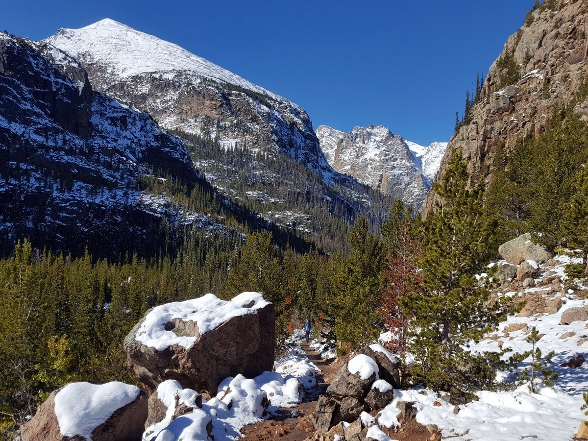 Notch on the Sky Pond and Lake of Glass Hike in Rocky Mountain National Park, Colorado