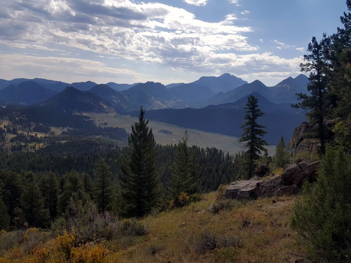 Valley views from the Beaver Meadows Loop Hike in Rocky Mountain National Park, Colorado
