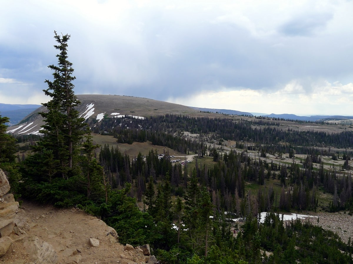 The slopes of the pass on the Bald Mountain hike in the Uinta Mountains, Utah