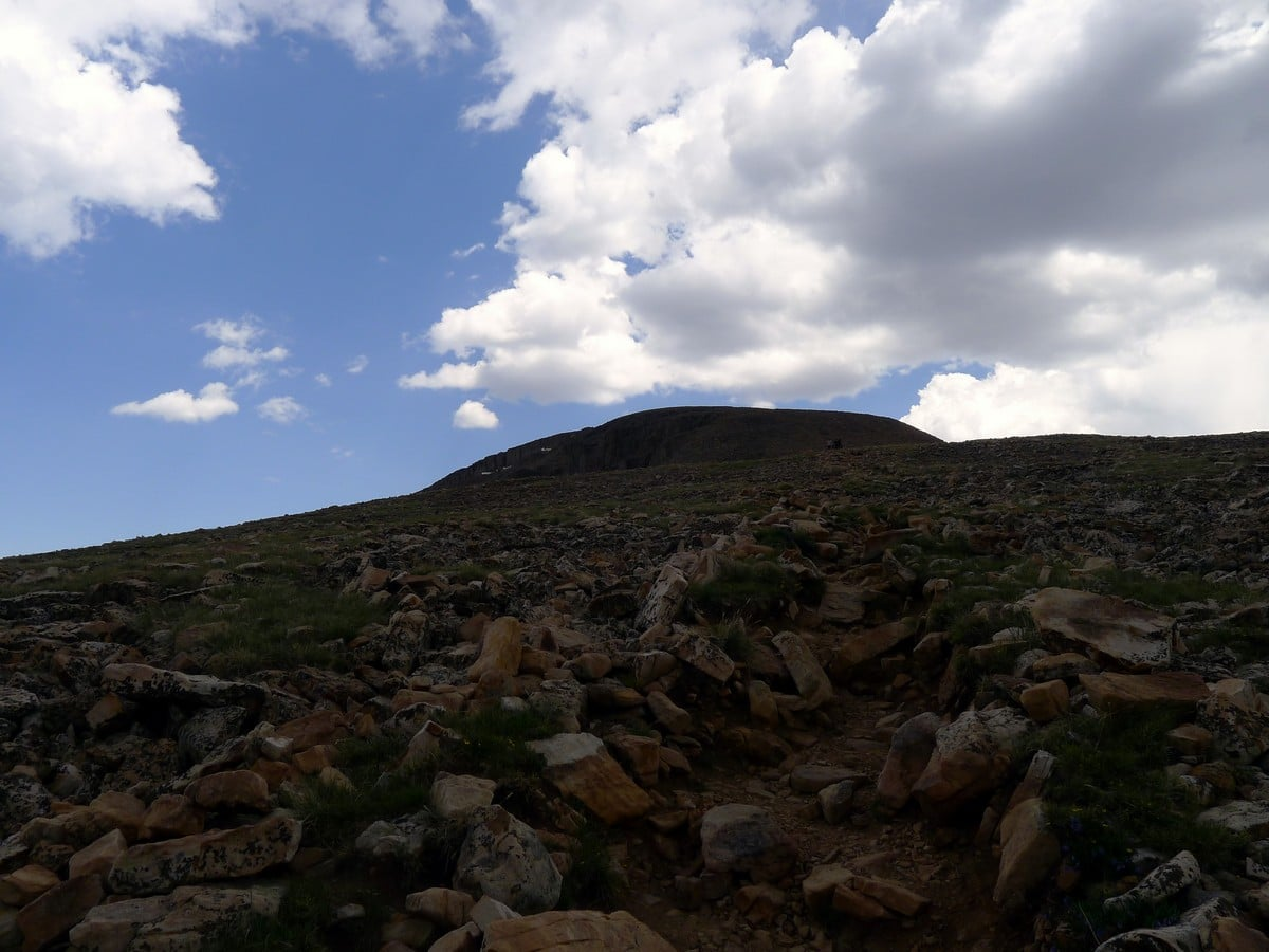 The slopes on the Bald Mountain hike in the Uinta Mountains, Utah